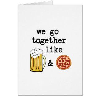 Cartes Pizza et bière
