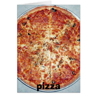 Cartes pizza, pizza