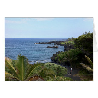 Cartes Plage de route de Hana, Maui, Hawaï