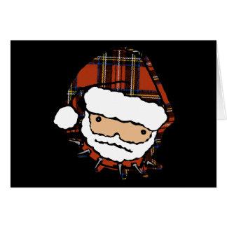 Cartes Plaid punk mignon Père Noël