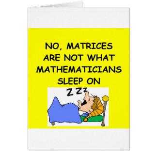 Cartes plaisanterie de maths