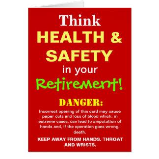 Cartes Plaisanterie drôle de retraite de santé et