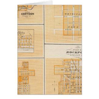 Cartes Plan de Rockport, Spencer Co avec Everton