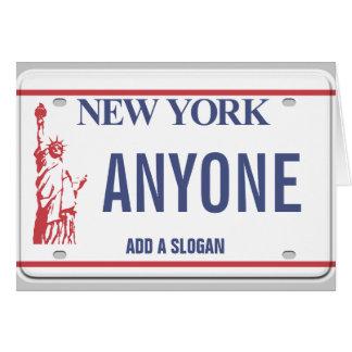 Cartes Plaque minéralogique de New York (personnalisée)