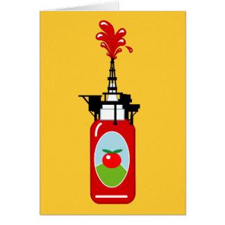 Cartes Plate-forme pétrolière de ketchup