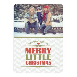 Cartes plates de joyeuse petite photo de Noël Carton D'invitation 12,7 Cm X 17,78 Cm