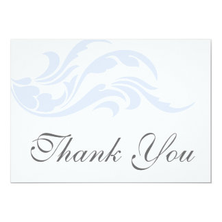 Cartes plates de Merci bleu élégant de rouleau Cartons D'invitation