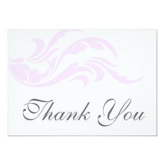 Cartes plates de Merci pourpre élégant de rouleau Invitations Personnalisables