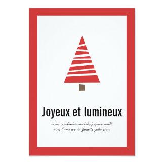 Cartes plates de vacances d'arbre de photo rouge carton d'invitation  12,7 cm x 17,78 cm