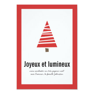 Cartes plates de vacances d'arbre de photo rouge cartons d'invitation