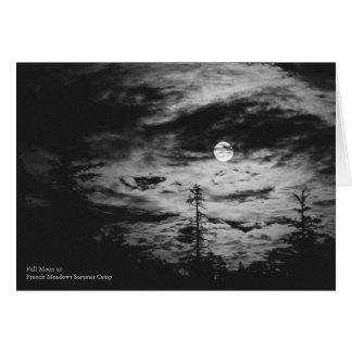 Cartes Pleine lune à la colonie de vacances française de