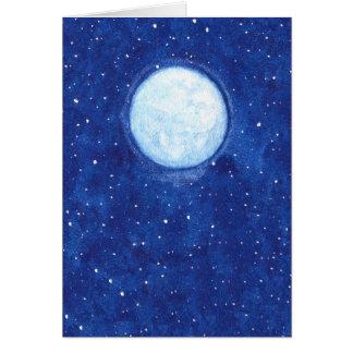 Cartes Pleine lune d'aquarelle
