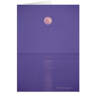 Cartes Pleine lune rose