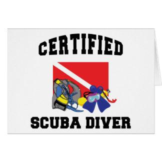 Cartes Plongeur autonome certifié