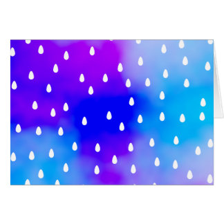 Cartes Pluie avec le ciel nuageux bleu et pourpre