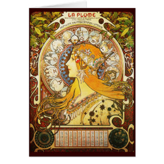 Cartes Plume de La d'Alphonse Mucha