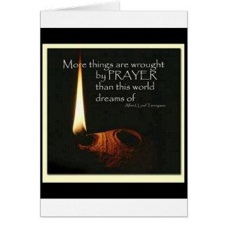 Cartes Plus de choses sont travaillées par prière