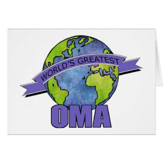 Cartes Plus grand Oma du monde