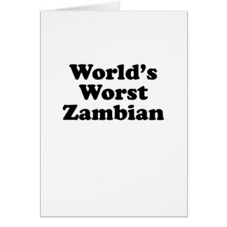 Cartes Plus mauvais zambien du monde
