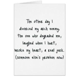 Cartes Poème de divorce