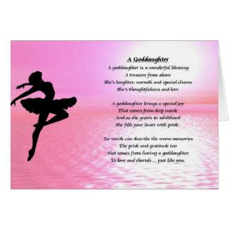 Cartes Poème de filleule de ballerine