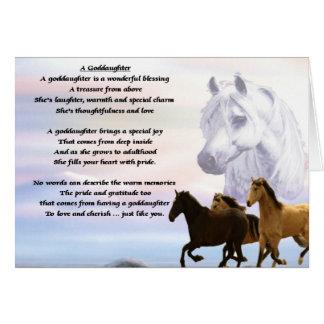 Cartes Poème de filleule de chevaux