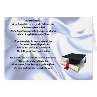 Cartes Poème de filleule d'obtention du diplôme