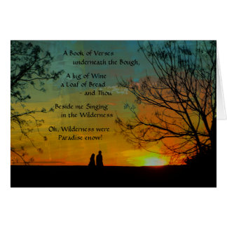 Cartes poème romantique - Rubaiyat d'Omar Khayyam