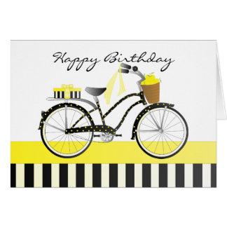 Cartes Point de polka et bicyclette de citrons