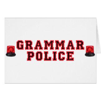 Cartes Police de grammaire