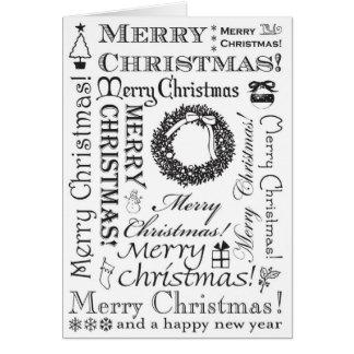 Cartes Polices de fête BW de Joyeux Noël