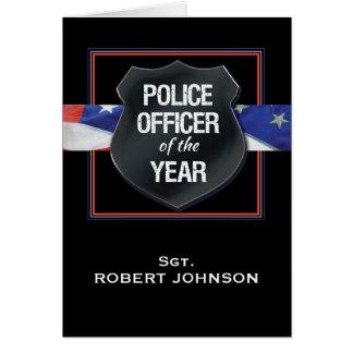 Cartes Policier du nom de coutume de Congrats d'année