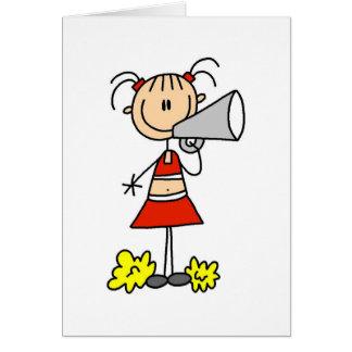Cartes Pom-pom girl avec le mégaphone