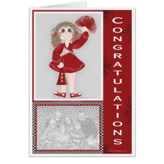Cartes Pom-pom girl de félicitations personnalisé