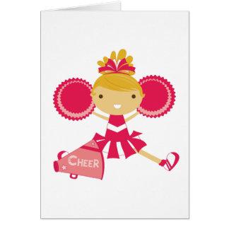 Cartes Pom-pom girl en rouge