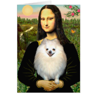 Cartes Pomeranian (crème) - Mona Lisa