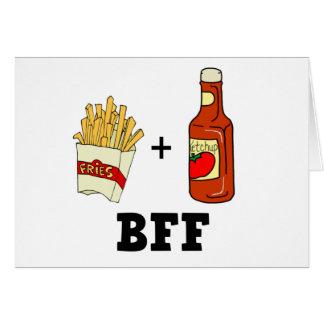 Cartes Pommes frites et ketchup BFF