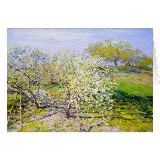Cartes Pommiers En fleur, Claude Monet 1873