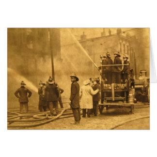 Cartes Pompiers dans l'action - cru