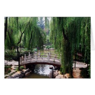 Cartes Pont arqué en parc paisible
