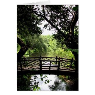 Cartes Pont au-dessus de l'eau paisible