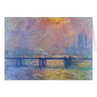 Cartes Pont croisé de Charing, la Tamise, Claude Monet