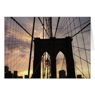 Cartes Pont de Brooklyn au coucher du soleil