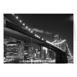 Cartes Pont de Brooklyn et horizon de Manhattan