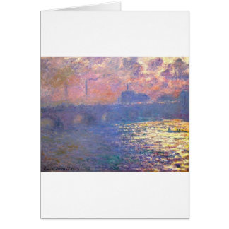 Cartes Pont de Waterloo, effet de lumière du soleil par