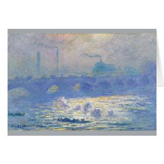 Cartes Pont de Waterloo par Claude Monet