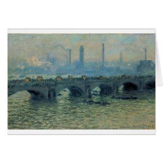 Cartes Pont de Waterloo, temps gris par Claude Monet