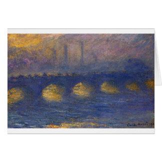 Cartes Pont de Waterloo, temps obscurci par Claude Monet