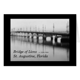Cartes Pont des lions St Augustine, la Floride