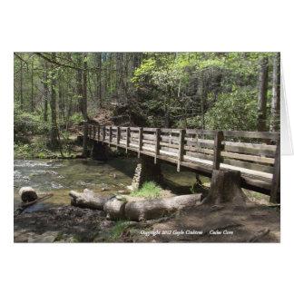 Cartes Pont en bois dans la crique de Cades